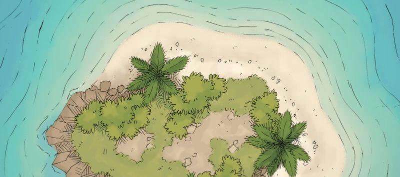 Tropical Island battle map banner