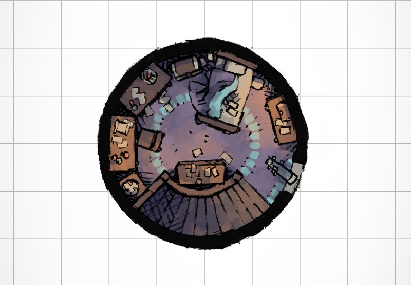 The Wizard S Tower A Free Battle Map For D D Or Other Rpgs