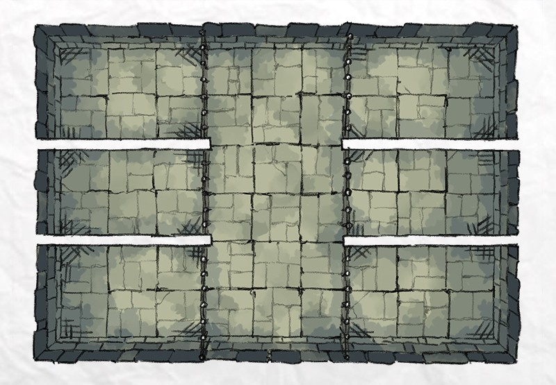 Dungeon Prison battle map