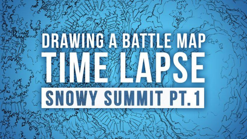 Snowy Summit Battle Map Time Lapse Video Pt.1 Thumbnail