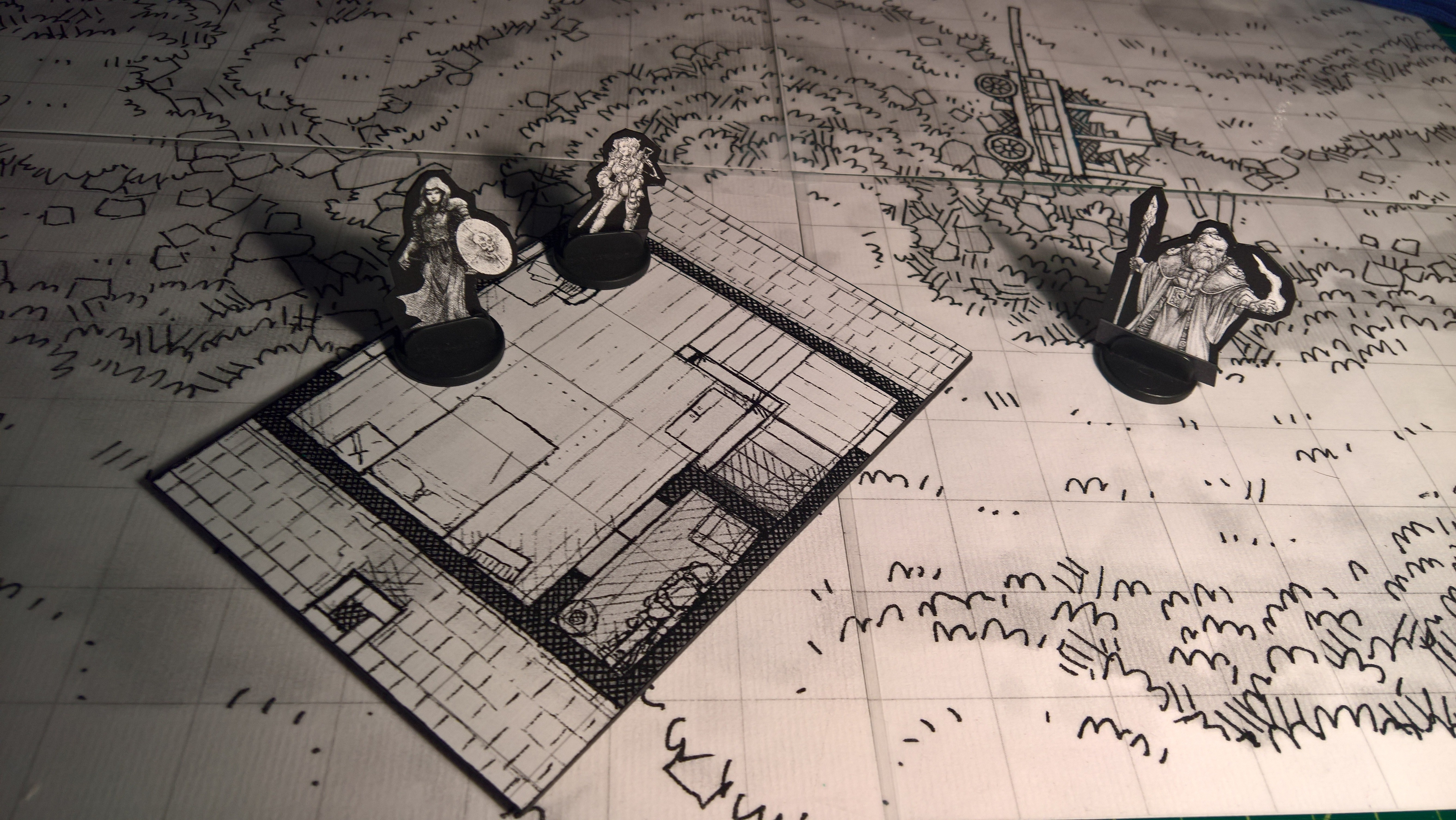 Paul Kingtiger Map Print