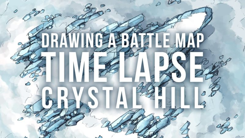 Speed Drawing the Crystal Hill battle map video