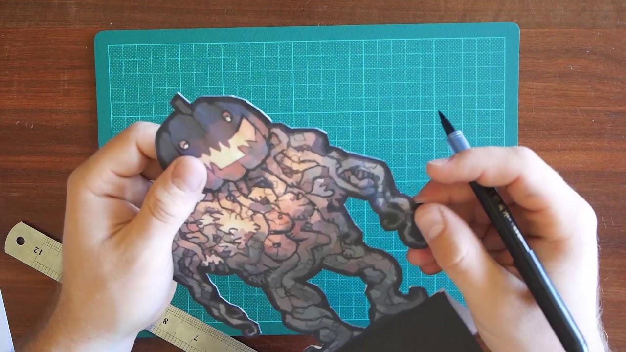 Assembling the Harvest Horror Paper Figurines Video