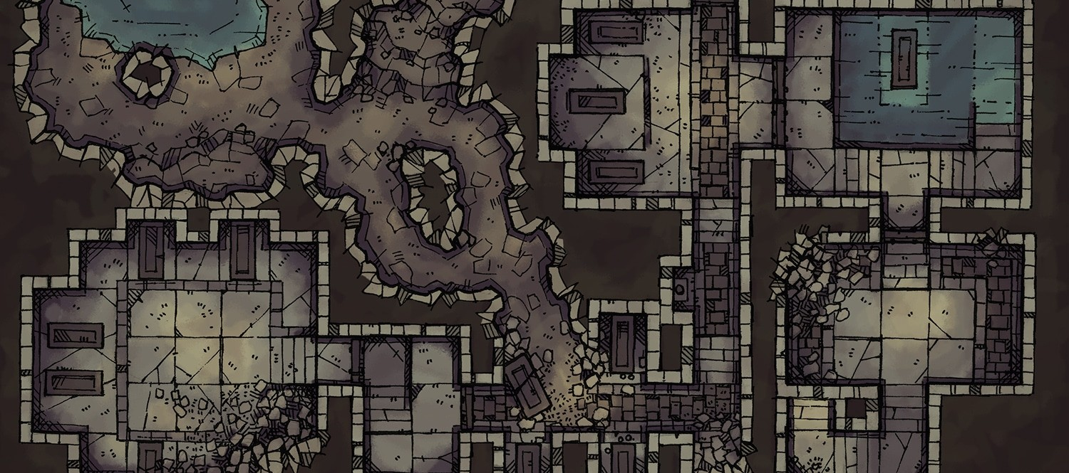2-Minute Tabletop is creating Hand-Drawn Maps & Assets for