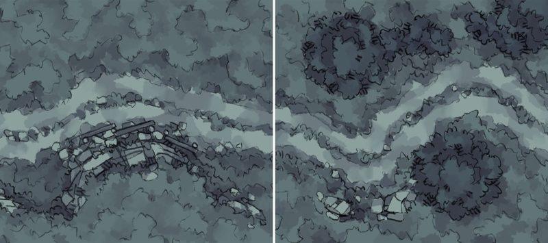 Roadside Rise & Wilderness Battle Maps AT NIGHT