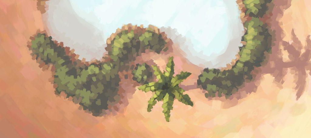 Desert Oasis Battle Map, Banner