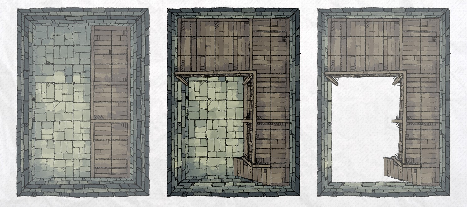 Dungeon Vault Battle Map Tile, banner