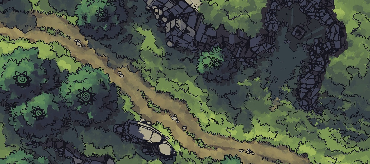 Hillside Altar battle map, color banner