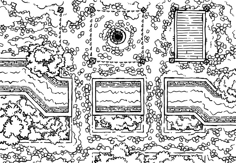 Snowy Plaza Battle Map, Lines