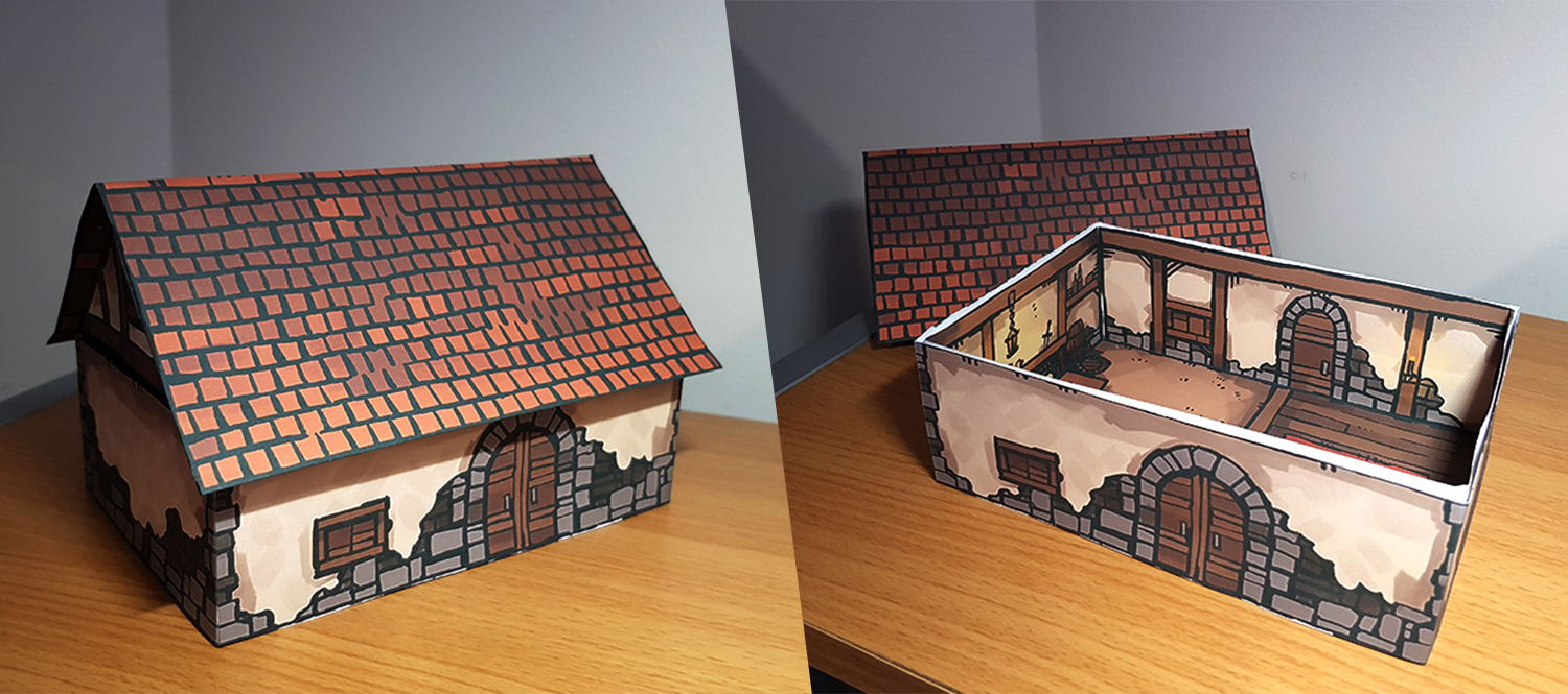 Papercraft House, banner