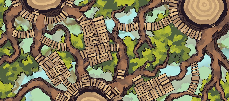 Oakenspire Treetops battle map, banner