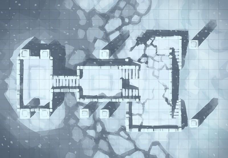 Snowy Sanctum, square grid