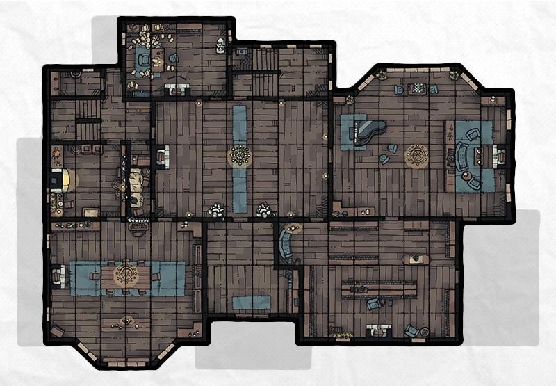 Haunted Mansion (Furnished), floor 1