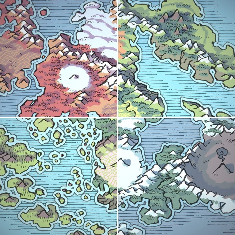 Wei Continent RPG World Map, banner