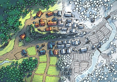Poacher's Crest RPG Town Map, preview