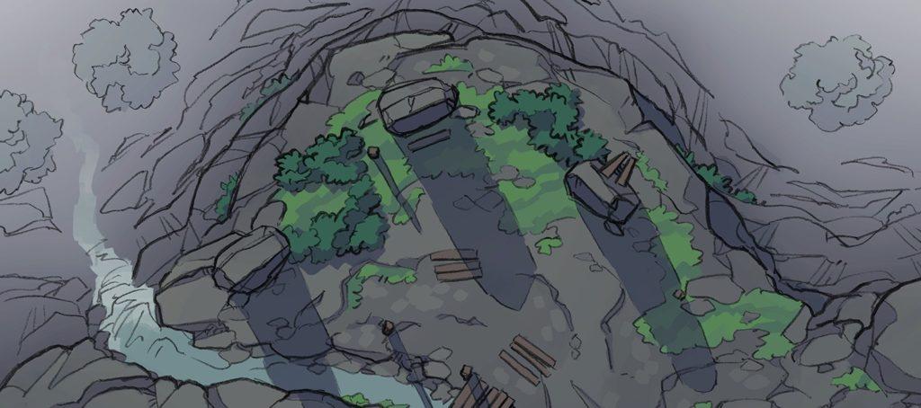 Buzzard Cliff RPG battle map, banner