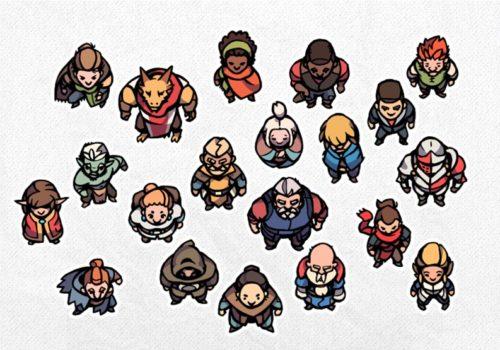 Hero Character Tokens 3, Premade Tokens