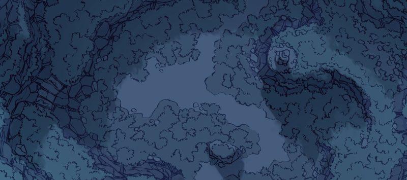 Highland Pass battle map, night, banner