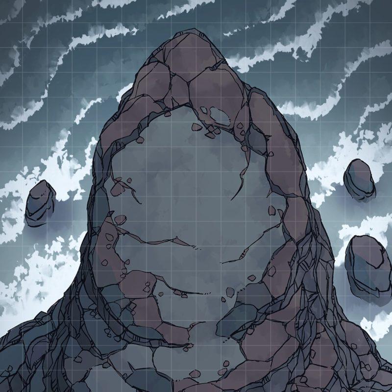 Seaside Precipice RPG battle map, Instagram