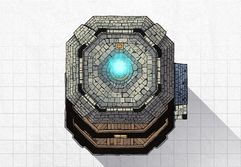 Lighthouse Free Rpg Battle Map From 2 Minute Table Top