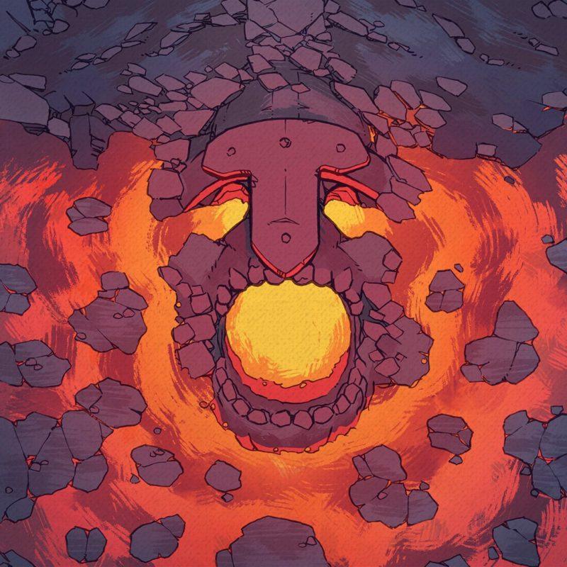 Volcano Lava Fire Temple RPG battle map, Instagram