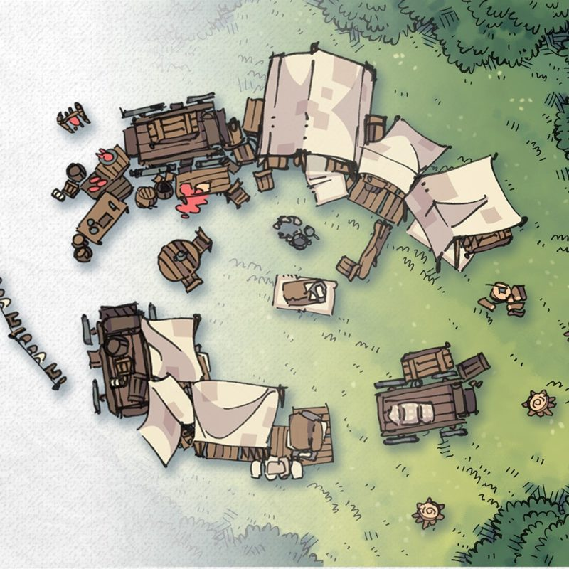 Bandic Camp Assets and Battle Map, Instagram preview