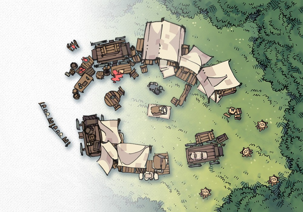 Bandic Camp Assets and Battle Map, Preview