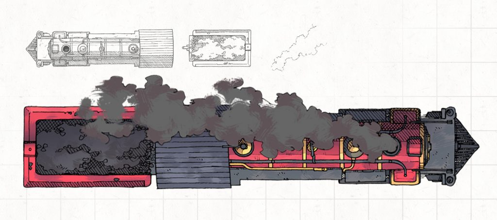 Steam Locomotive RPG Battle Map, Banner