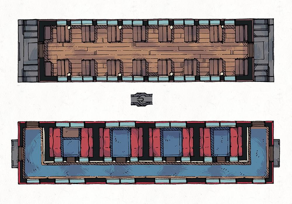 Steam Train Passenger Cars, Color