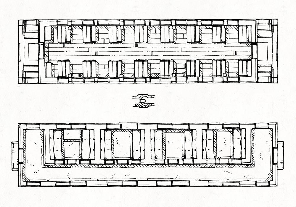 Steam Train Passenger Cars, Lineart