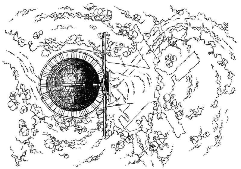 Pumpkin Hill Halloween Battle Map – Line Art Preview