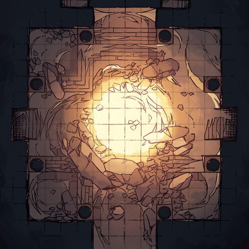 Crumbling Desert Tomb Battle Map – Instagram