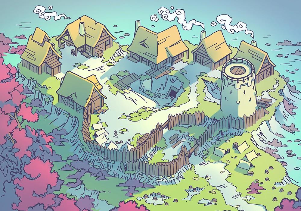 Fog's Edge Outpost Jungle Town Map, FogsEdgeOutpost-Feywild