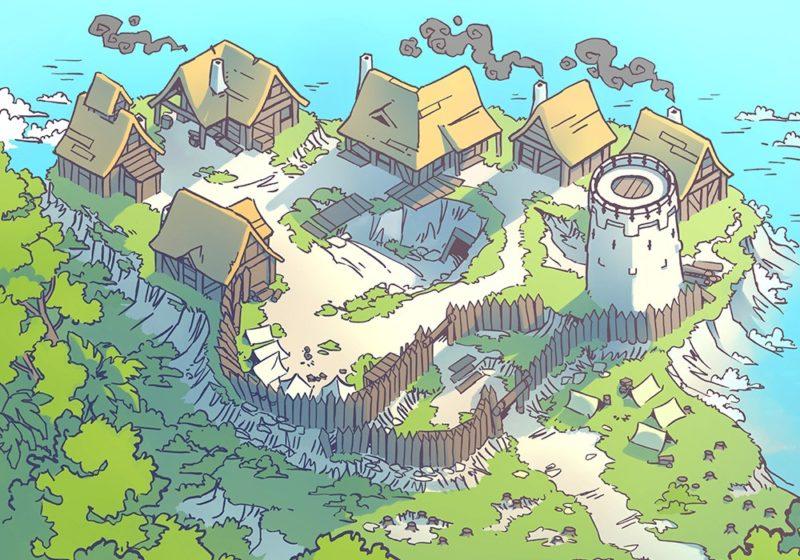 Fog's Edge Outpost Jungle Town Map, FogsEdgeOutpost-Seaside