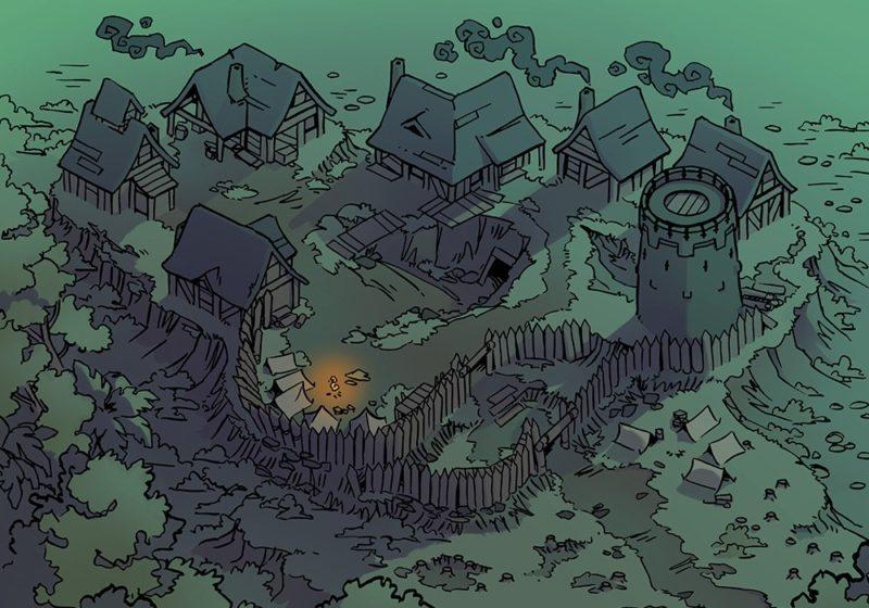 Fog's Edge Outpost Jungle Town Map, FogsEdgeOutpost-Shadowfell