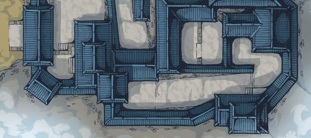 Japanese Castle RPG Battle Map – Banner Image