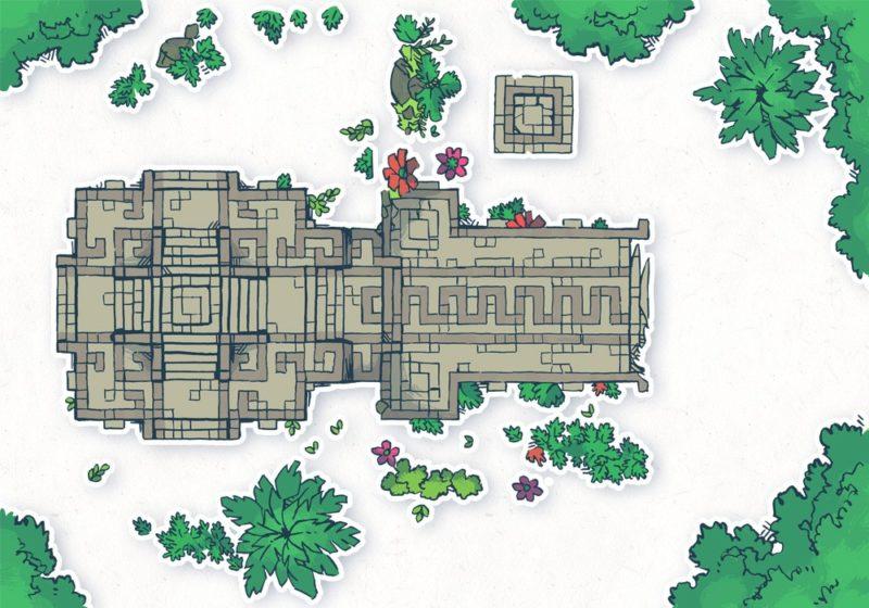 Jungle Podium battle map, assets
