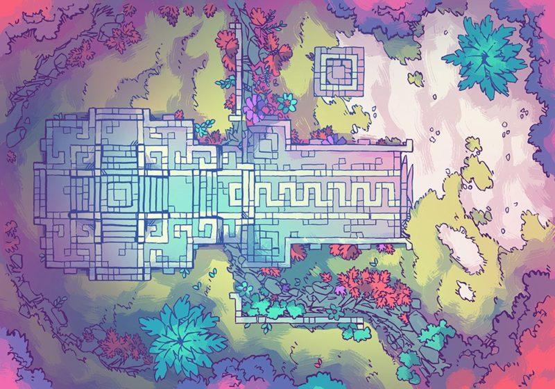 Jungle Podium battle map, feywild
