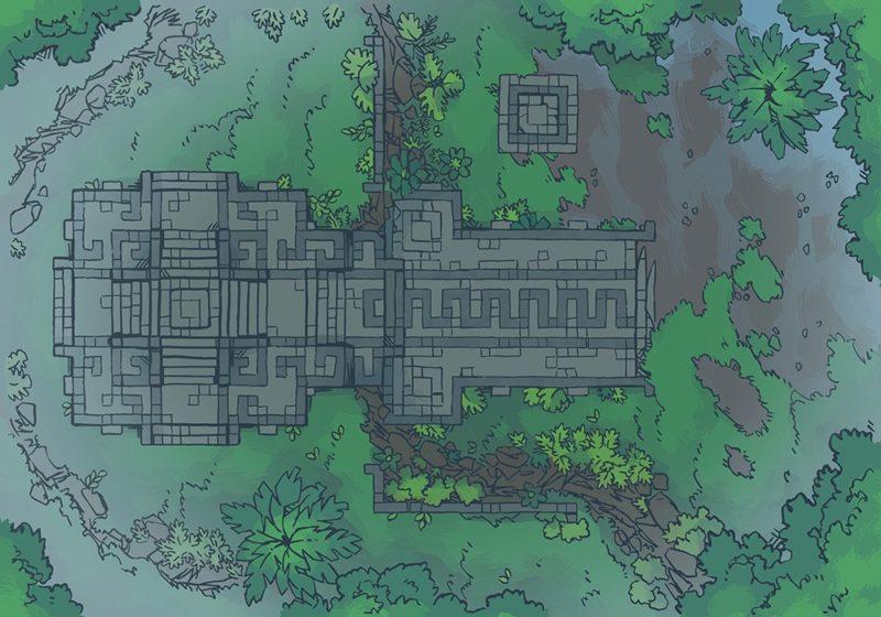 Jungle Podium battle map, shower