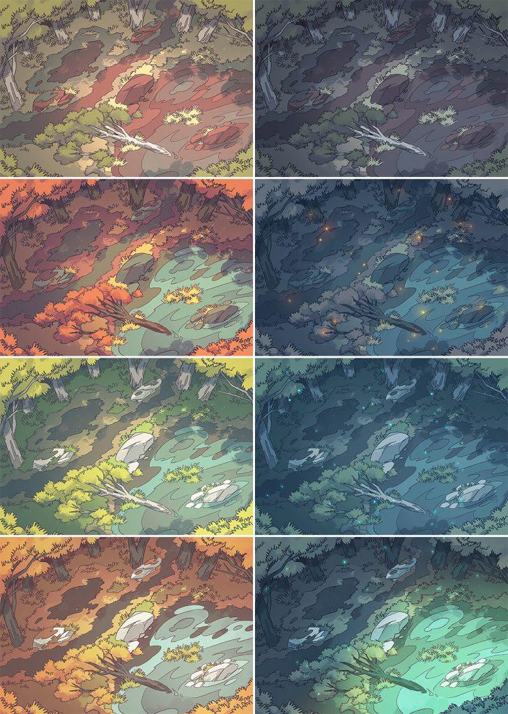 Australian Billabong RPG Battle Map, Patreon Variants