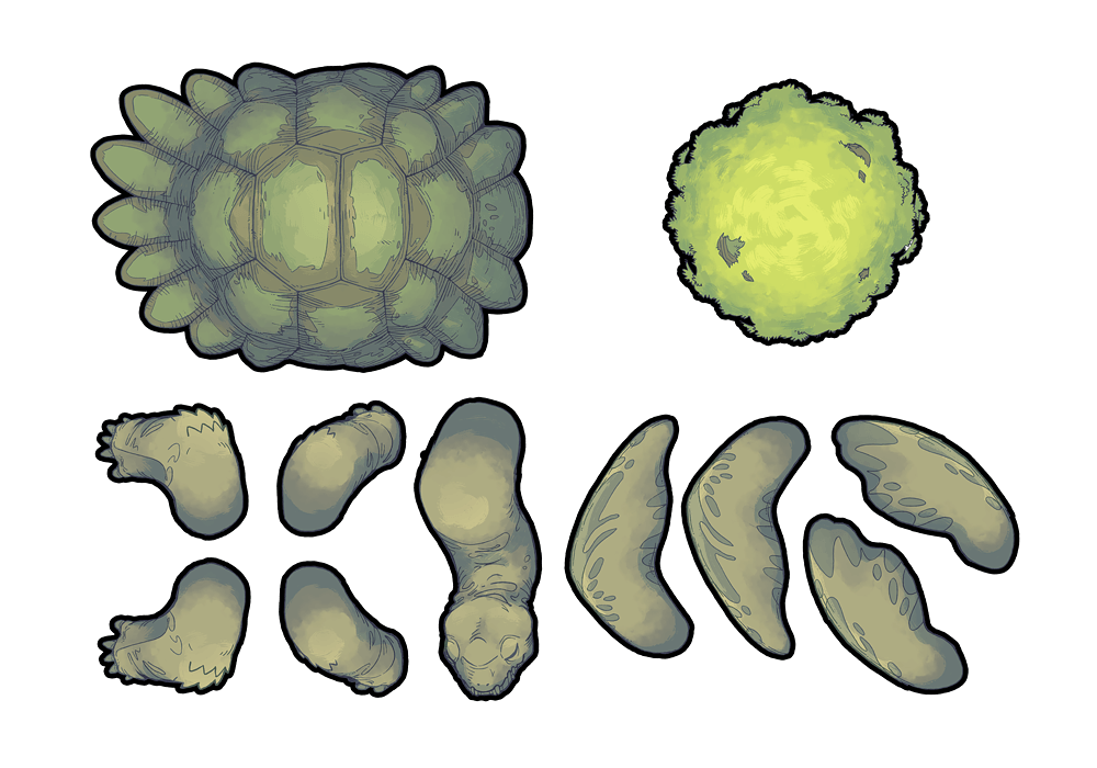 Colossal Turtle RPG Battle Map & Assets - Printable Assets
