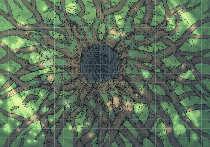 Ancient Tree Roots (23x16) Grid