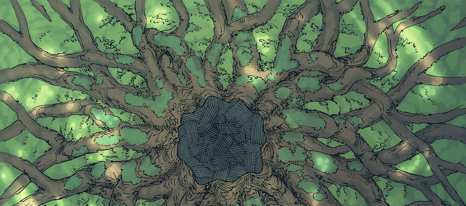 Ancient Tree Roots Fantasy Battle Map - Banner