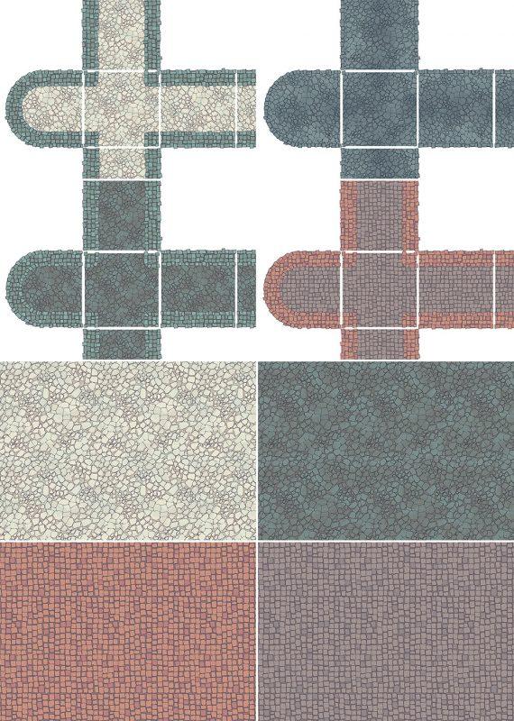 City Street Tiles - Patreon Variants