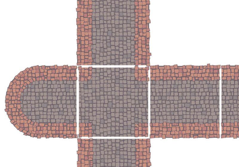 City Street Tiles - Terracotta