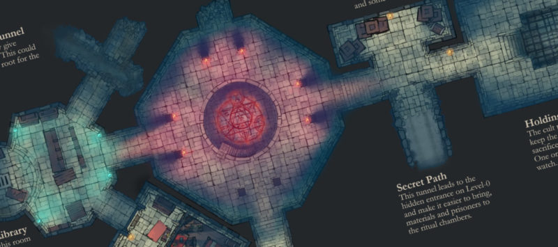 Cult Dungeon Lower Red Custom Map - Banner