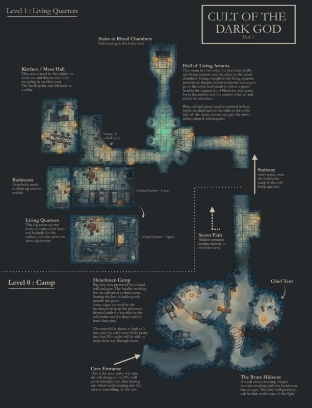 Cult Dungeon Upper Red Custom Map
