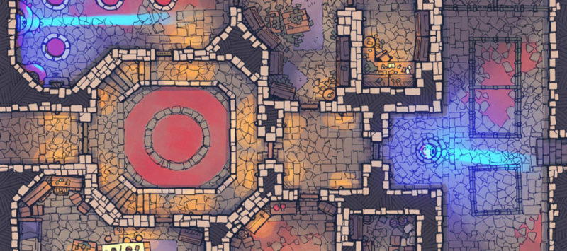 Cultist Lair Fantasy Dungeon Map - Banner
