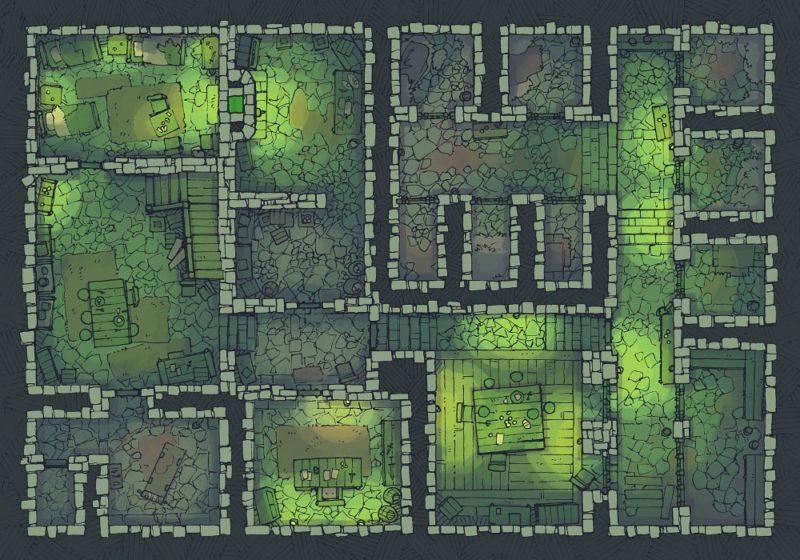 Dungeon Jail (22x16) Cult Lair, Dark