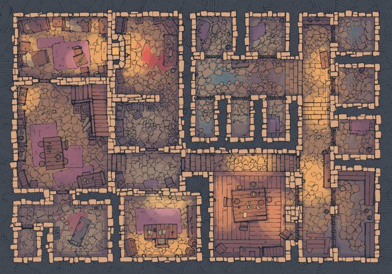 Dungeon Jail (22x16) Desert, Dark